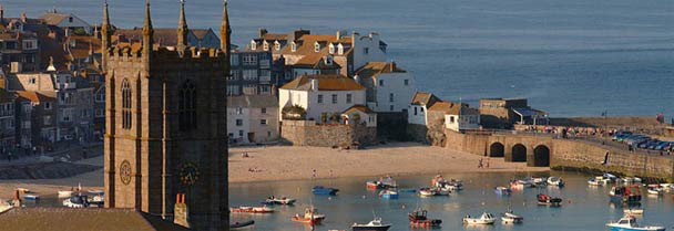 St Ives - view towards the harbour